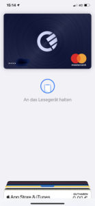 Endlich: Die Curve Card in Apple Pay